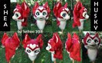 [FOR SALE] Red Kemono Husky Head V2 FOR SALE by Sethaa