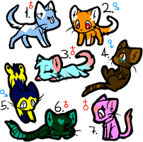Song based kitten adopts (OPEN) by Snows-Sweet-Adopts