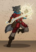 Spiritwolf Commission-- Shade the Magus by the-gneech