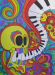 Piano Keys Skull by ToniTiger415