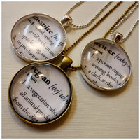 Dictionary Word Pendants by cellsdividing