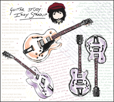 Guitar Study: Izzy Stradlin by rivertem