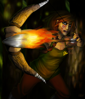 Katniss: Spread the fire by Appelmos