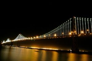 Bay Bridge Lights by rafaelmcsilveira