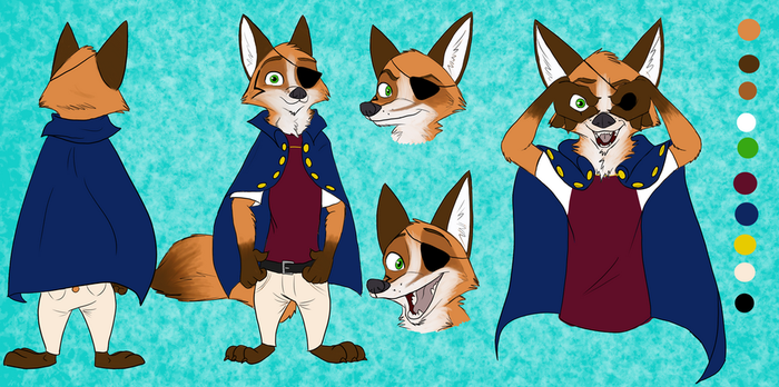 Captain character sheet (commission) by Quirky-Middle-Child