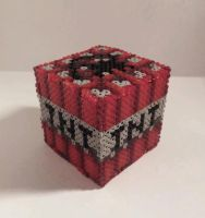 Minecraft Hama TNT Block by Retr8bit
