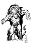 Tarzan and the Lion by brianrobinson