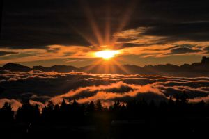 Sunset over the clouds II by david2500
