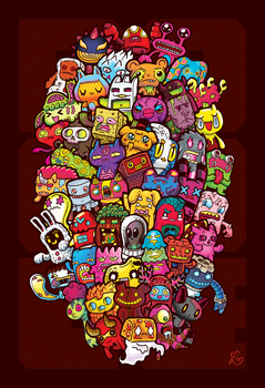 Hidden Doodles' 50 Monsters by LeiMelendres