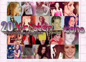 20 Kristen Stewart Icons by MyShinyBoy