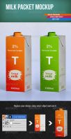 Milk Packet Mockup by intenseview