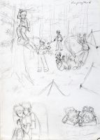 HS - jakedirk johnkarkat campingstuck sketches by ChibiEdo