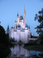 cinderella castle by nightwing1975
