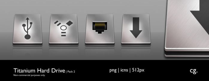 Titanium Hard Drive Pack 2 by cgink