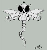 Winged Skull by kyan