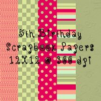 5th Birthday Scrapbook paper by tash11