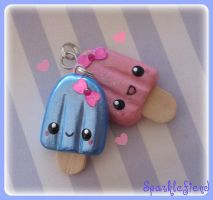 Kawaii Popsicle Charms by Sparklefiend