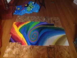 Abstract paintings six seven eight nine and ten by vansc14