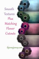 Smooth Textures plus Matching Flowers by ibjennyjenny