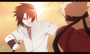 Naruto vs Sasuke by Nazel90