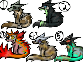 Open mask wolf point adoptables by exileinvadercat