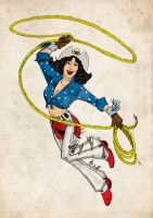 Wonder Woman rodeo by AlanSchell