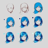 How I draw hair by HoldSpaceShift