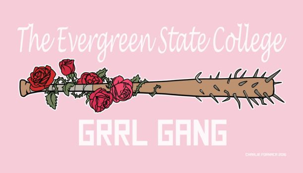 The Evergreen State College GRRL GANG Sticker by Read-the-Wind