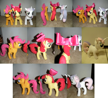 Cutie Mark Crusaders Plushies by makeshiftwings30