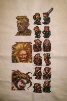FF 3/6 cross stitch: General Leo, Banon, Kefka by PolygonRainbow