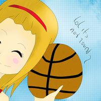 Emy With Ball, ( lolz its not round ) by mira00000