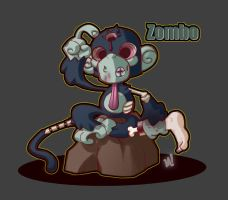 Zombie Zoo:  Monkey by Zatransis