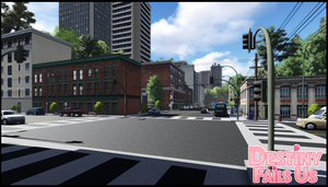 [DFU VN] WIP Background Preview | Downtown by DestinyFailsUs