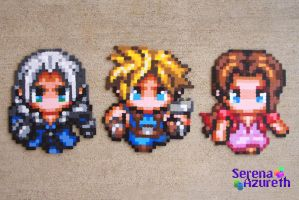 FFVII Fun with Chibis by SerenaAzureth