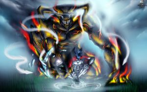 Sorcerer of Battle v4 - The Elemental Golem by Unreal-Forever