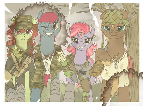 Fallout Equestria: Marker Round's group by SourSketches