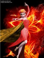 Fire!Elsa by MaiSoli