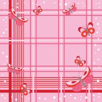 Pink kerchief with butterflies by jkBunny