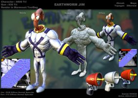 Earthworm Jim face. by sterna