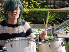 Lancer Bee Drummer in Yoyogi by SuperPope