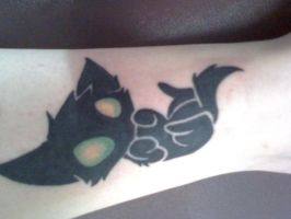 kitty tattoo by bloodstainnightmare