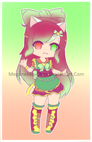 (CLOSED) [AUCTION] Christmas Neko Girl Adoptable by meganekko-chan