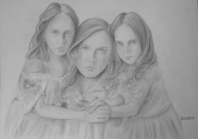 Three Sisters by acrylicwildlife