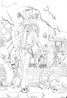 The Hatter's Cottage - Lineart by MercyAntebellum