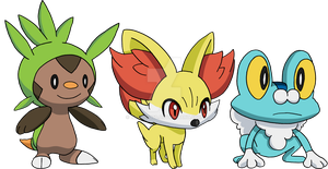 Kalos Starters - Art v.2 by Tails19950