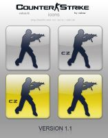 Counter-Strike and CS:CZ icons by vaksa