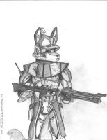 Marshal commander Wolf drawn by WMDiscovery93