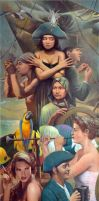 Ship of fools - oil on canvas, 65x145 cm, 2014 by wicked-vlad