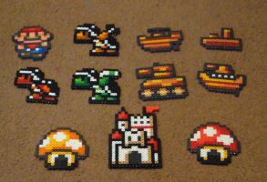 Perler Super Mario Bros 3 World Map Collection by Pika-Robo