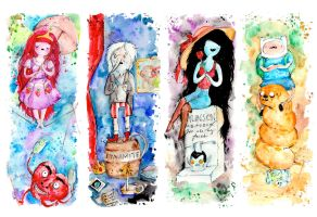 Adventure Time / Haunted Mansion by drawingsbynicole